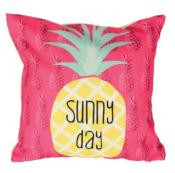 Coussin Ananas Rose Déco Exotique Sunny Day Rose/Jaune/Vert
