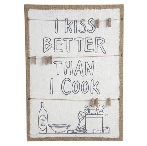 tableau m mo cuisine i kiss better than i cook boutique baia. Black Bedroom Furniture Sets. Home Design Ideas