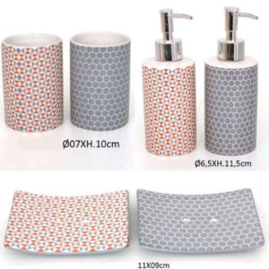 Accessoires salle de bain tendance rangement maison - Accessoire salle de bain gris ...