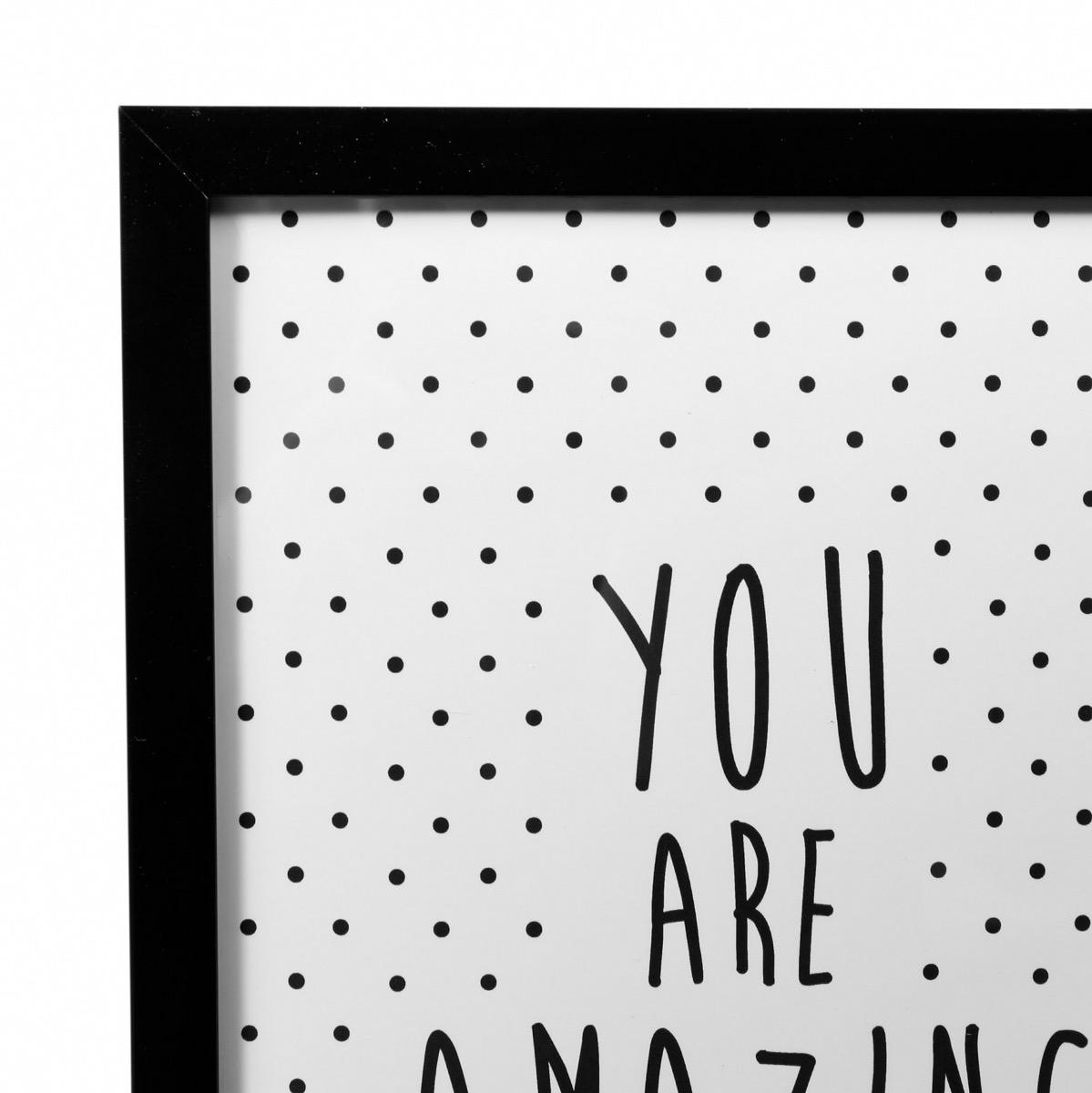 tableau citation - affiche noir & blanc - cadre tendance - boutique baia