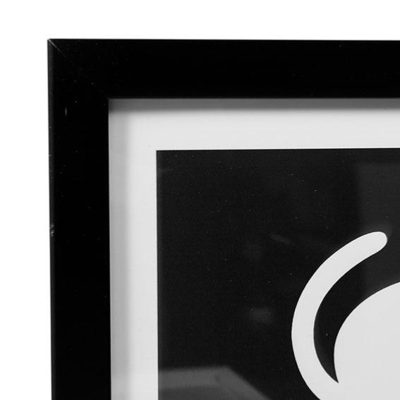 duo de cadres chat noir blanc home sweet home. Black Bedroom Furniture Sets. Home Design Ideas