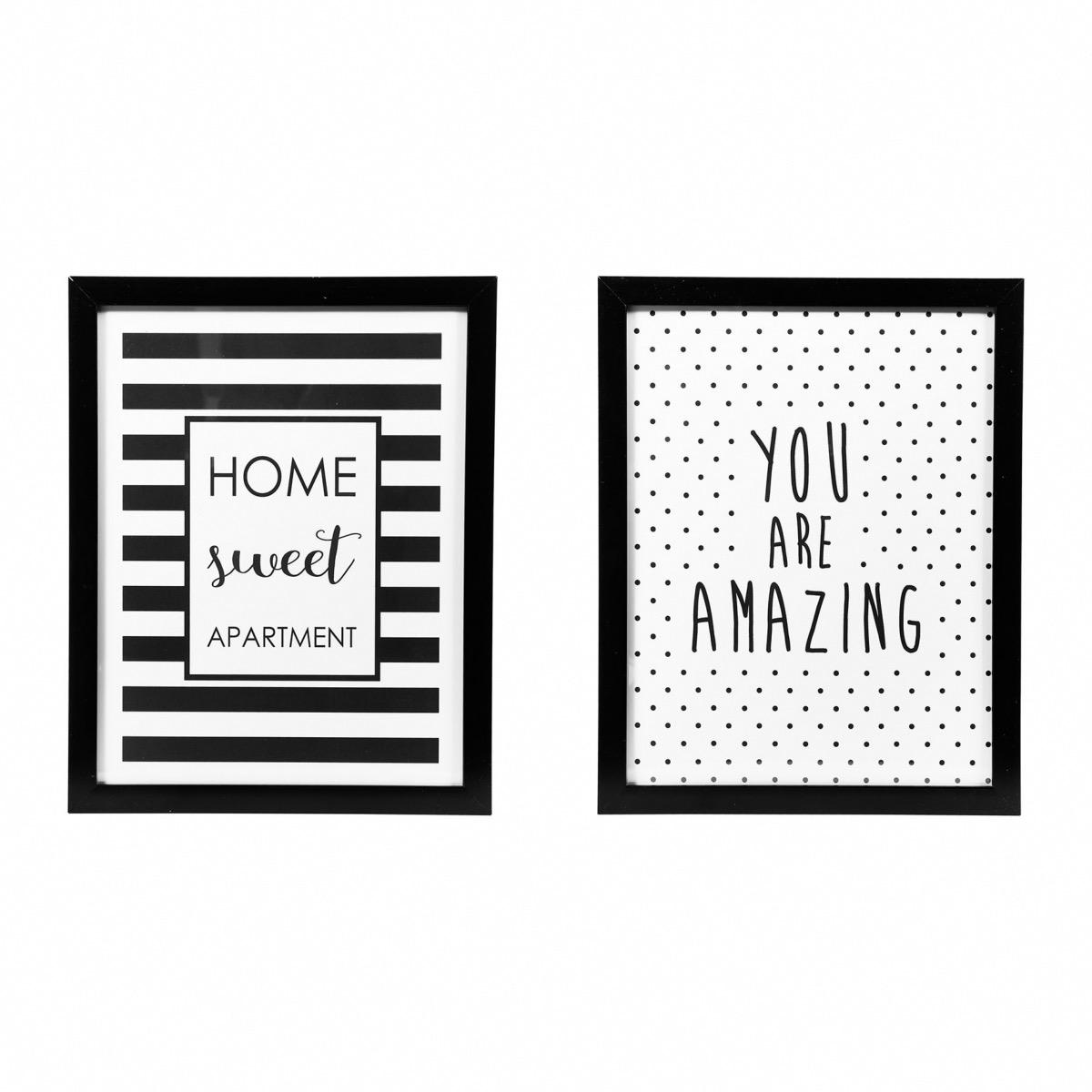 citations tendances cadre noir blanc boutique baia. Black Bedroom Furniture Sets. Home Design Ideas